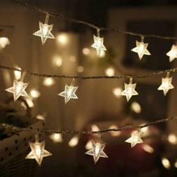 Twinkle Star 100 LED 49 FT Star String Lights, Plug in Fairy