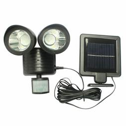 Two Head Solar 22 LED Light Waterproof Motion Sensor Rotatab