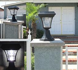 Ultra Bright 4 LEDs Solar Fence Gate Lamp Post Light