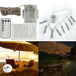 umbrella solar string lights decorative outdoor beach