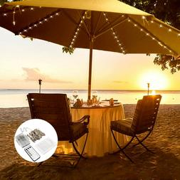 Umbrella Solar String Lights Decorative Outdoor Beach 8x1.4