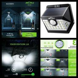 LITOM Upgraded 30 LED Solar Lights Outdoor, Wireless IP65 Wa