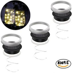 iThird Mason Jar Lights Lids Waterproof, Solar String Lights