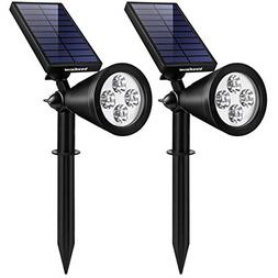 Upgraded Solar Lights 2-In-1 Waterproof Outdoor Landscape Li