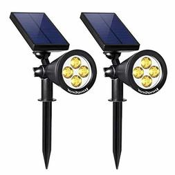 InnoGear Upgraded Solar Lights 2-in-1 Waterproof Outdoor Lan