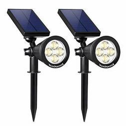 InnoGear Upgraded Solar Lights 2 in 1 Waterproof Outdoor
