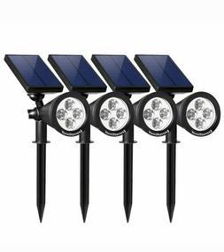 InnoGear Upgraded Solar Spot Lights 4 PACK 2-in-1 Waterproof