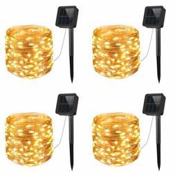 AMIR Upgraded Solar String Lights, 4 Pack 33ft 100 LED Outdo
