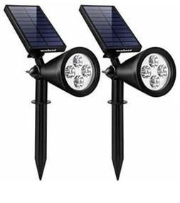 Upgraded Spotlights Solar Lights 2-in-1 Waterproof Outdoor L