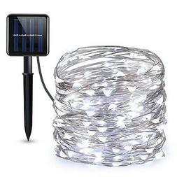 AMIR  Solar Powered String Lights, 100 LED Copper Wire Ligh.