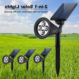 URPOWER 4LED Waterproof Outdoor Garden Solar Spotlights land