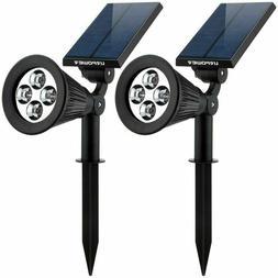 Urpower Solar Lights, 2-In-1 Waterproof 4 Led Solar Spotligh