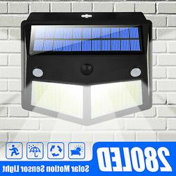 IP65 280LED Solar Lamp PIR Motion Sensor Outdoor Garden Yard