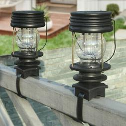 Vintage Solar Hanging Lantern Warm Light for Patio Tabletop