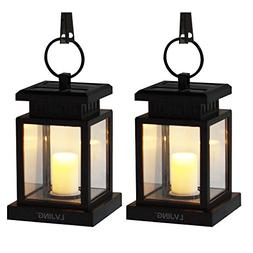 Solar Lantern Hanging Solar Lights Outdoor 2 Pack, Solar Gar
