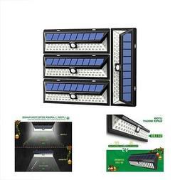 Wall Lights Litom Solar Outdoor 54 LED, Super Bright Wide An