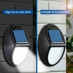 Waterproof 10 LED Solar Powered Wall Lights Outdoor Garden Y