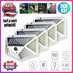 Waterproof 100 LED PIR Motion Sensor Solar Power Outdoor Gar
