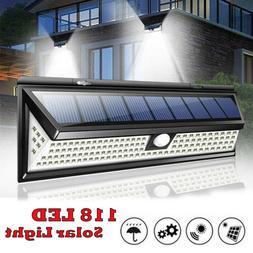 Waterproof 118 LED Solar Lamp Outdoor Garden Yard PIR Motion