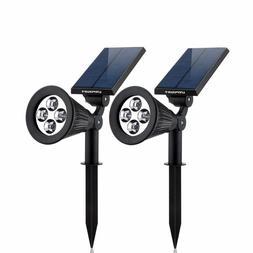 Waterproof 4 LED Solar Spotlight Adjustable Wall Light Lands