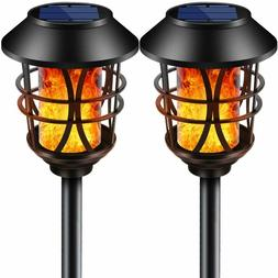 Waterproof Outdoor Solar Lights Metal Flickering Flame Torch