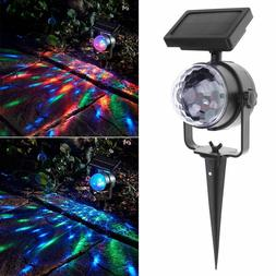 Waterproof Solar Color Projector Lights Outdoor Decoration S