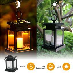 Waterproof Solar Lantern Hanging Light Led Candle Yard Patio