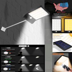 Waterproof Solar Outdoor Street Wall Lights LED PIR Motion S