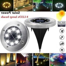 Waterproof Solar Power Disk Lights Buried Light Outdoor Unde