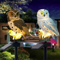 Waterproof Solar Power LED Light Garden Yard Lawn Owl Landsc