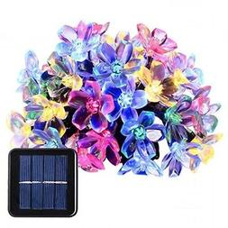 Waterproof Solar Powered Garden Led Lights Blossom Flower Ou