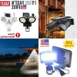 Waterproof Solar Powered Sensor LED Light Security Flood Mot