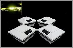 "8-Pack Solar White Post Deck Fence Cap Lights for 4"" X 4"" Po"