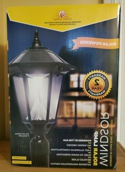 "Gama Sonic GS-99F Windsor Light Outdoor Solar Lamp, 3"" Post"