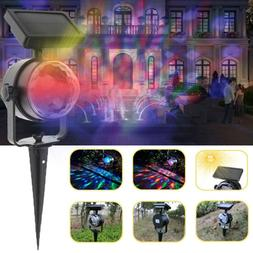Yard Rotating Outdoor Lamp LED Laser Projector Solar Light C