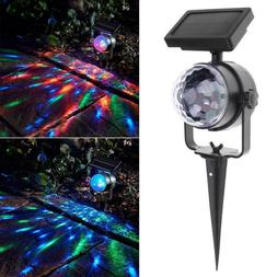 Yard Rotating Solar Light Outdoor Lamp LED Laser Projector C